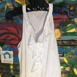 Lilly Pulitzer Tops - Lily Pulitzer NWOT White ruffle tank top
